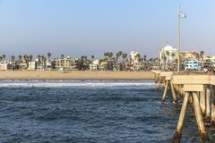 View on venice beach from pier at daytime Royalty Free Stock Image