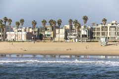 View on venice beach from pier at daytime Royalty Free Stock Images