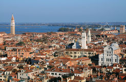 View of Venice from Bell Tower Stock Photos