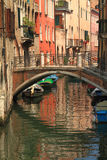 View of Venice with canal and old buildings Stock Photo