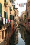 View of Venice with canal and old buildings Royalty Free Stock Photos