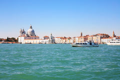 View of Venice city from San Marco basin Stock Image