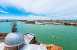 View of Venice, Grand canal, Basilica Santa Maria della Salute Royalty Free Stock Image