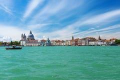 View of Venice, Grand canal, Basilica Santa Maria della Salute Stock Photos