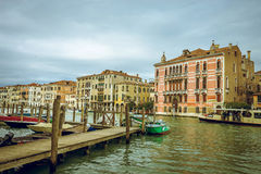 View of Venice Grand Canal Stock Photography