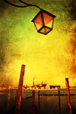 View of Venice with grunge texture Royalty Free Stock Photo