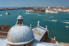 View of Venice from the island of San Giorgio Stock Photography