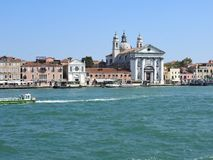 View of Venice, Italy and its other architecture from the Grand canal, clear day royalty free stock photos
