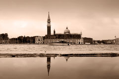 View of Venice, Italy.overcast morning. Royalty Free Stock Photo