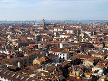 Panoramic view of Venice. View of Venice rooftops from above, Italy Stock Images