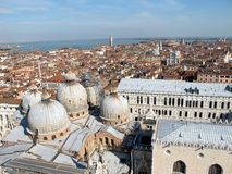Panoramic view of Venice. View of Venice rooftops from above, Italy Stock Photography