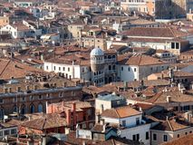 Panoramic view of Venice. View of Venice rooftops from above, Italy Royalty Free Stock Photos