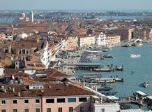 Venice rooftops from above, Italy. View of Venice rooftops from above, Italy Stock Photo