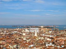 Venice rooftops from above, Italy. View of Venice rooftops from above, Italy Royalty Free Stock Photo