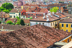 View of Venice rooftops from above Royalty Free Stock Photo
