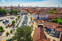 View of Venice rooftops from above, Italy Stock Photos