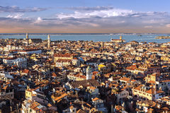 View of Venice rooftops Royalty Free Stock Photos