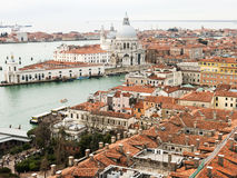 The view on Venice from San Marco Campenile Stock Photo
