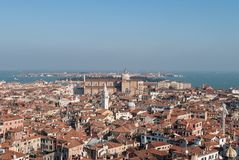 View of Venice. A view of Venice from St. Mark`s Campanile Bell Tower Stock Image