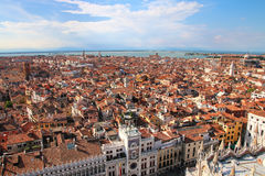 View of Venice from St Mark`s Campanile, Italy Royalty Free Stock Photography