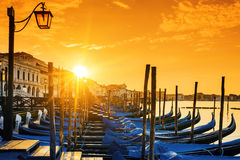 View of Venice at sunrise Stock Photos