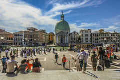 View from Venice train station Stock Images