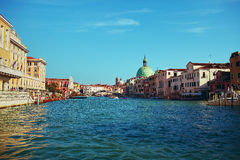 View of Venice from the water. Summer Royalty Free Stock Photo