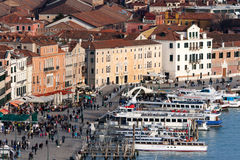 View of Venice waterfront Royalty Free Stock Image