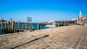 View of Venice wharf Royalty Free Stock Images
