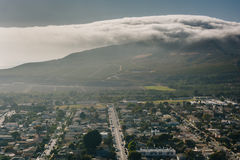 View of Ventura and distant mountains from Grant Park, in Ventur Royalty Free Stock Image