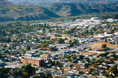 View of Ventura and distant mountains from Grant Park, in Ventur Royalty Free Stock Images
