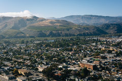 View of Ventura and distant mountains from Grant Park, in Ventur Stock Image