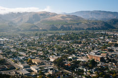 View of Ventura and distant mountains from Grant Park, in Ventur Stock Photo