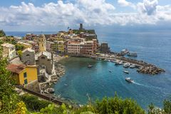 View of Vernazza, Cinque Terre royalty free stock photography