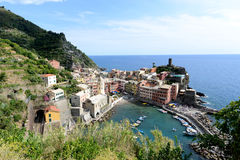 View of Vernazza harbor in Italy Royalty Free Stock Photos