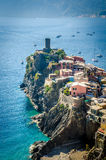 View of Vernazza, italy Stock Image