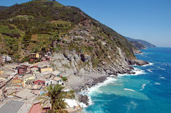 View of Vernazza. View of part of Vernazza, one of the 5 cinque-terre villages,Italy Stock Photography