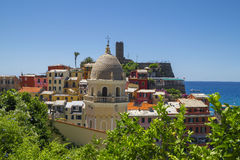 View of Vernazza, a town in Cinque Terre Royalty Free Stock Photo