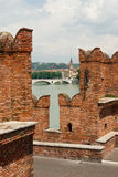 View of Verona from the bridge Royalty Free Stock Images