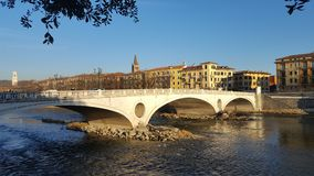 View of Verona. From the far side of the river Stock Images