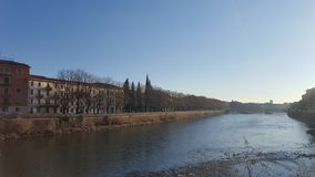 View of Verona. From the far side of the river Stock Image