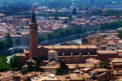 Looking down on Verona Stock Photo