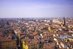 The View of Verona houses roof stock image