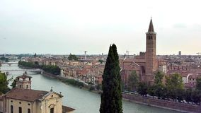 View of Verona, Italy stock footage