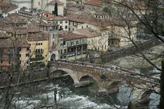 Verona Italy Ponte Pietra stock photos