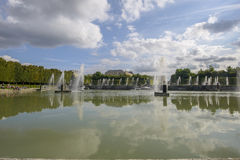 View of Versailles Chateau, gardens and famous fountains Stock Photography
