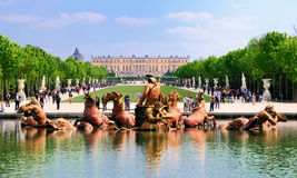 View on Versailles from the Garden stock images