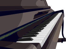 View of vertical piano sideways. Royalty Free Stock Image