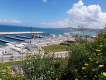 View 8. Very good view from kasbah of tangier Royalty Free Stock Photo
