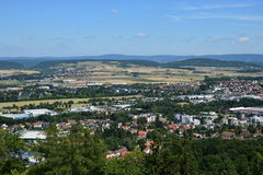 View from the VESTE COBURG castle in Coburg, Germany Royalty Free Stock Images